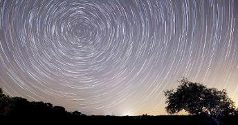 sky photography at night time lapsed