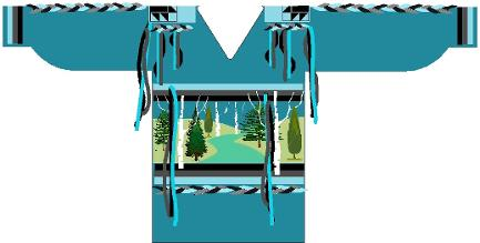 Ancestor ribbon shirt - eastern woodlands front proposed digital sketch
