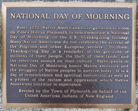 National Day of Mourning plaque Plymouth MA