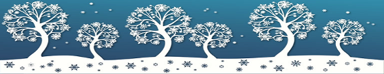 winter tree banner