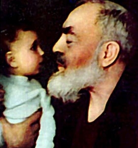 Padre Pio and baby